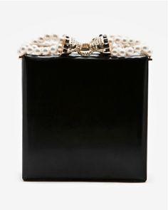 Dsquared² pearl & black clutch