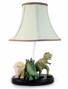 Dinosaur Table Lamp with Matching Night Light - Fantastic Hand Painted Details by Bright Lights, http://www.amazon.com/dp/B00642RFWY/ref=cm_sw_r_pi_dp_IMi8pb1FSZQRS