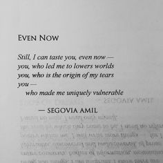 Segovia Amil, one of my favorite contemporary poets.