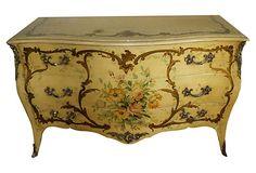 "Italian Floral Dresser for 1st Guest Bedroom- 54""L x 22""D x 34""H"