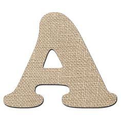 Burlap Digital Alphabet, Country Chic Alphabet Clipart, Printable Fabric Letters + Numbers + Punctuation #design #clipart