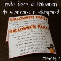 Invito festa Halloween da scaricare e stampare per bambini