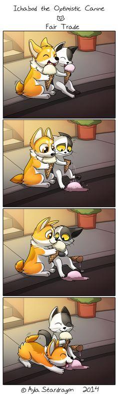 Ichabod the Optimistic Canine :: Fair Trade   Tapastic Comics - image 1