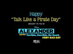 Have a Yarrrsome Talk Like a Pirate Day!