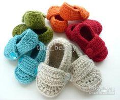 Zapatos tejidos a crochet para bebé (4)