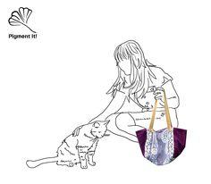 """Cabas """"Vintage"""", Grand sac à main réversible en  tissu  recyclé, cabas, sac à main de la boutique Pigmentit sur Etsy"""