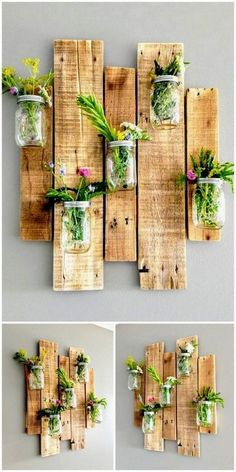 Incredible ideas for reusing wasted wooden pallets # garden… - wood. Incredible ideas for reusing wasted wooden pallets # garden… - wood. garden ideas garden ideas cheap garden ideas from recycled materials Wooden Pallet Projects, Wooden Pallet Furniture, Furniture Ideas, Pallet Wood, Furniture Stores, Porch Furniture, Pallet Garden Projects, Reuse Furniture, Wood Pallet Planters