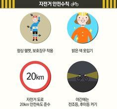인포그래픽] 안전하게 자전거타기 - 자전거 안전수칙 : 네이버 블로그 Chart