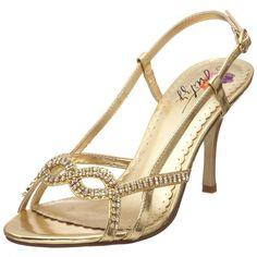 Mitzy ~ Heidi ~ gold heels