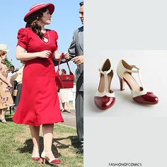 Chelsea Crew Vivacious Vibes Heel in Crimson - $69.99 Agent Carter | The Lady in the Lake