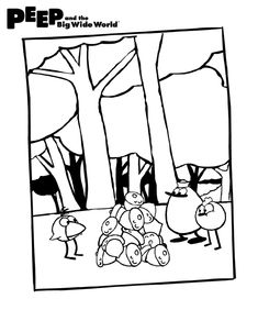 Pin by PEEP and the Big Wide World on PEEP Coloring Pages