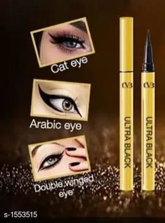Eyes CVB Golden Pen Eyeliner  *Product Name* CVB Golden Pen Eyeliner  *Brand Name* CVB  *Product Type* Eyeliner  *Product Description* The liner gives an intense black finish and does not fade away, thanks to the ink pigment technology that went into the creation of this eyeliner.  *Description* It Has 1 Pack of CVB Golden Pen Eyeliner  *Sizes Available* Free Size *   Catalog Rating: ★4 (204)  Catalog Name: make up Premium Choice Eyeliner Vol 17 CatalogID_201967 C51-SC1242 Code: 312-1553515-