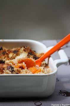 Crumble de carottes au cumin, noisettes et Parmesan