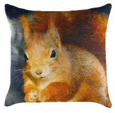 Squirrel Velvet Chenille Cushion