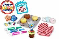 Bake & Decorate Cupcake Play Food Set
