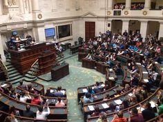 kras in het parlement BELGIE