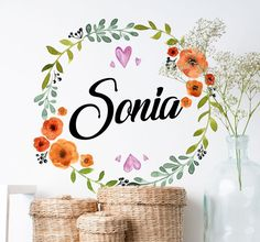 Decorate your home or office with this beautiful floral name !