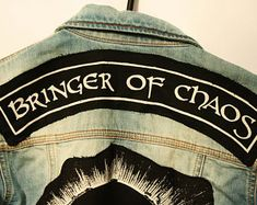 092b14c46c489 Bringer Of Chaos top rocker patch - punk patch