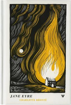 Jane Eyre woodcut illustration depicts novel's scene-burning of Rochester's house. I loved that book.This illustrations a bit spoiler though. Art And Illustration, Illustrations Posters, Design Graphique, Art Graphique, Linocut Prints, Art Prints, Block Prints, Poster Art, Linoprint