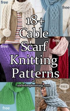 4 Row Repeat Scarf Knitting Patterns- In the Loop Knitting Cable Knitting Patterns, Lace Knitting, Knit Crochet, Scarf Patterns, Crochet Shawl Diagram, Knitted Shawls, Knitted Scarves, Quick Knits, Lana