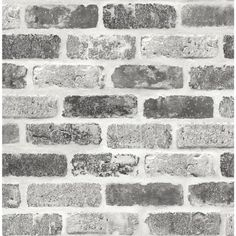 Bring the look of exposed bricks to your interior space without the mess or cost with this Grey Washed Faux Brick peel and stick wallpaper from NextWall. Printed on smooth vinyl, our peel and stick designs are perfect for renters and homeowners looki Brick Wallpaper Peel And Stick, White Wallpaper, Wallpaper Roll, Wallpaper Ideas, Faux Brick Wallpaper, Modern Wallpaper, Wallpaper Wallpapers, Grey Brick Houses, Faux Brick Walls
