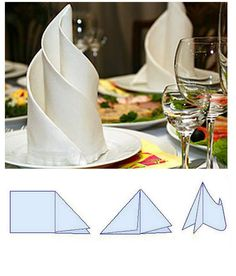 Best DIY Napkin Folding Tutorial Ideas Some people might think that a Best DIY Napkin Folding Tutorial Ideas Some people might think that a napkin is just a napkin and nothing are so Wedding Napkin Folding, Christmas Napkin Folding, Paper Napkin Folding, Christmas Napkins, Wedding Napkins, Christmas Christmas, Linen Napkins, Paper Napkins, Clothing Hacks