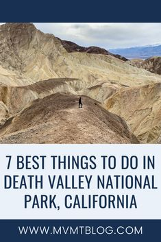 7 Best Things To Do In Death Valley National Park, including Badwater Basin (salt flats), Mesquite Flat (sand dunes), slot canyons, and more! California National Parks, California Usa, Canada Destinations, Visit Usa, Death Valley National Park, Travel Usa, Travel Tips, Canada Travel, Travel Activities