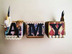Altered wooden blocks