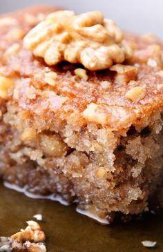 Greek Honey Cake Recipe with walnuts, cinnamon, and orange zest. #cake #greekcake #greekhoneycake #greek #honeycake #baking #cakerecipes #dessert #desserts #dessertrecipes #kitchme