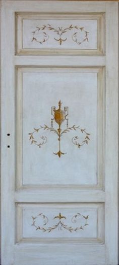 Porta in legno massello - Porta decorata e dipinta a mano | restauro ...