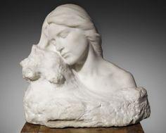 Miquel Blay i Fàbregas, Sueño. Escultura de gran belleza femenina que tiene una expresión nostálgica.