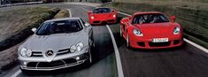 Crown Jewels:  Carrera GT, Enzo, SLR McLaren