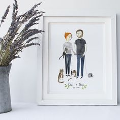 Couples Hobbies And Interests Personalised Portrait