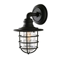 Elk Lighting 1 Light Outdoor Wall Sconce with Clear Glass Shade from the Textured Matte Black Outdoor Lighting Wall Sconces Outdoor Wall Black Outdoor Wall Lights, Outdoor Barn Lighting, Outdoor Wall Lamps, Elk Lighting, Outdoor Walls, Wall Sconce Lighting, Lighting Ideas, Farmhouse Lighting, Cottage Lighting