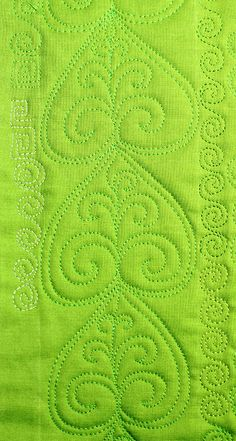 Free Motion Quilting Tutorial-The Elegant Leaf Lori Kennedy @ The Inbox Jaunt