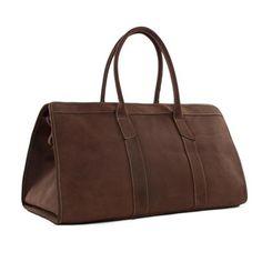 Large Capacity Leather Men Travel Bag Unisex Dark Brown Luggage Bag MG32 - ROCKCOWLEATHERSTUDIO