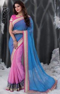 good-looking-blue-pink-georgette-jacquard-half-n-half-designer-saree-800x1100.jpg