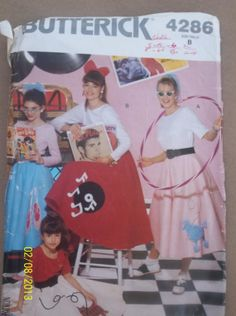 Vintage Butterick 4286  Childrens' Girls' Top & by Bigwheel179, $2.00
