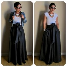 diy maxi dress | DIY black poly shantung maxi dress by b.Ruth
