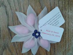 Jordan Almond Flower Wedding Favor | Jordan almonds, Favors and Flower