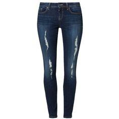 Jeans im Used Look - Stylische Jeans in Dunkelblau von Even&Odd. Die dunkle Jeans mit den hellen Waschungen sorgt für einen tollen und sehr lässigen Look. - ab 26,95€