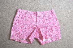 Lilly Pulitzer Palm Beach Fit Ladies Size 6 Shorts-Pink and White-EUC #LillyPulitzer #CasualShorts