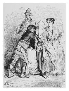 Labriegos murcianos s. XIX Gustave Doré - via museo huertano de murcia