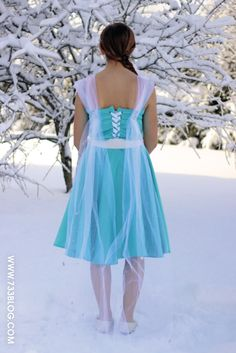 seven thirty three - - - a creative blog: Disney's Frozen - Elsa Inspired Dress