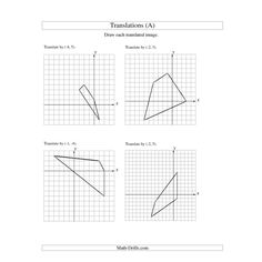 math worksheet : translations worksheets  math aids com  pinterest  worksheets : Translation Math Worksheet