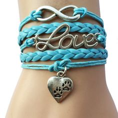 Show the world your love for your dog with these paw print bracelets! Available in Pink or Blue Get this bracelet now!