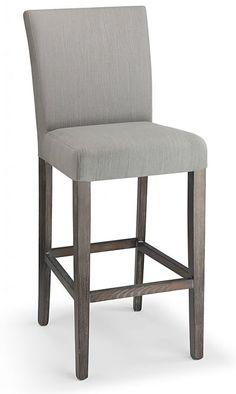 Upholstered Bar Stool Wooden Fabric Home Hotel Breakfast Seat High Chair Backres Grey Bar Stools, Bar Stools With Backs, Kitchen Breakfast Bar Stools, Kitchen Stools, Bar Seating, Banquet Seating, Small Modern Kitchens, Upholstered Bar Stools, Kitchen Fabric