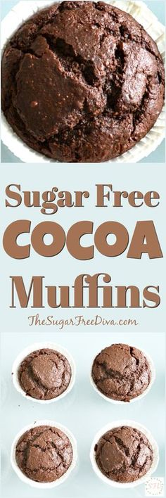 Sugar Free Cocoa Muffins-- YUM!!!! This recipe is so easy and tasty too!!