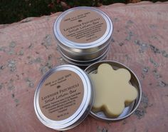 Lavender Patchouli Solid Lotion Bar 25 oz by FreshAsaDaisySoaps, $8.00