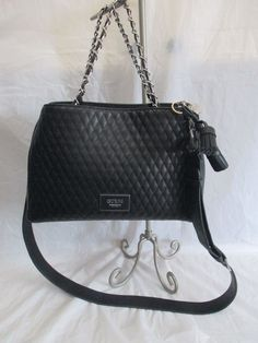 494f805b31 Guess Handbag Envisioning Women s Purse Black Satchel Bag Brand new with  tags